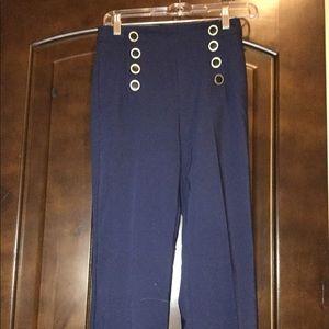 High waisted Zara navy trousers